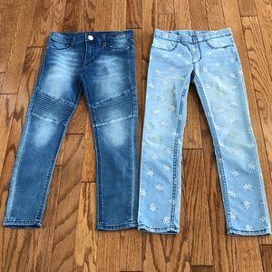 H&M girls bundle of 2 jeans pants denim size 6/7